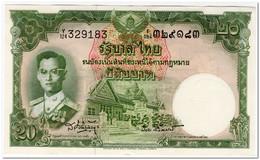 THAILAND,20 BAHT,1953,P.77d,XF+ - Tailandia