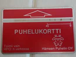 Finland Phonecard HÄMEEN PUHELIN HPO-D6 ( 301A.... ) USED Card - Finlandia