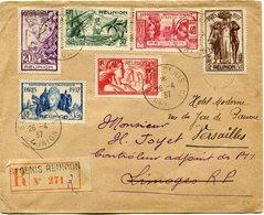 REUNION LETTRE RECOMMANDEE DEPART SAINT DENIS 26-4-37 REUNION POUR LA FRANCE - Réunion (1852-1975)