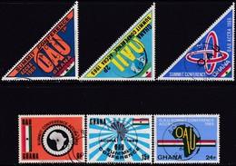 GHANA 1965 SG 394-99 Compl.set Used OAU Summit Conference - Ghana (1957-...)