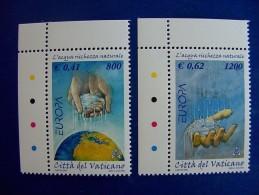 VATICANO 2001 - Europa, Water   Mi. 1372/73 Serie Cpl. 2v.  Nuovi** - Vaticano