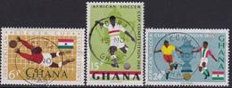 GHANA 1965 SG 400-02 Compl.set Used African Soccer Cup - Ghana (1957-...)