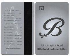Albalood Palace Suites, United Arab Emirates, Used Magnetic Hotel Room Key Card # Albalood-1 - Chiavi Elettroniche Di Alberghi