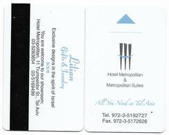 Hotel Metropolitan & Metropolitan Suites, Tel Aviv, Israel, Used Magnetic Hotel Room Key Card # Metropolitan-1 - Chiavi Elettroniche Di Alberghi