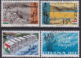 GHANA 1966 SG 408-11 Compl.set Used Volta River Project - Ghana (1957-...)