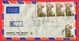 Kenia   1983  Registered  To Switzerland - Kenia (1963-...)