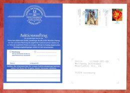 Auktionsauftragsformular, Tagetes U.a., Firmenfreistempel Sindelfingen, Nach Leonberg 2013 (94561) - BRD