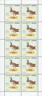 838 - Georgia - 2010 - Little Bustard - Birds Of Georgia - Mini Block 10v - MNH - Lemberg-Zp - Georgien