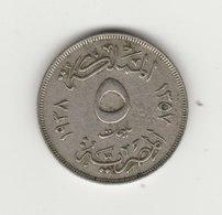 5 MILLIEMES 1938 - Aegypten