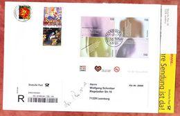 Einschreiben Reco + Abholkarte, Block Krankheiten U.a., Bonn Nach Leonberg 2013 (94565) - BRD