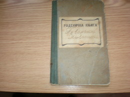 Radenicka Knjiga Petrovrad Zenjanin Tax Stamps 1935 Work Booklet - Historical Documents