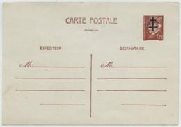 Entier Postal Neuf Type Pétain Avec Surcharge Libération Croix De Lorraine + RF De La Charité-sur-Loire . - Entiers Postaux