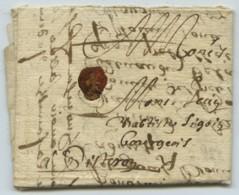 Lettre à Cachet 1654 D'Aix-en-Provence à Sisteron . Son Cousin à Jean-Baptiste Sigoin . - Manuscrits