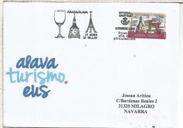 CC FDC CON MAT PRIMER DIA VITORIA 12 SELLOS 12 MESES TURISMO CATEDRAL VINO WINE GORBEA RIOJA - Vins & Alcools