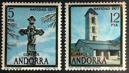 Andorra Spanish 1977 Christmas MNH - Andorra Spagnola