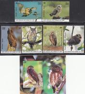 Cuba 2019 Owls Set + Souvenir Sheet - Cuba