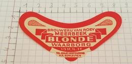 ETIQUETTE  BROUWERIJ VAN ROEY MEERBEEK BLONDE - Bière