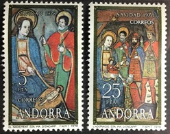 Andorra Spanish 1978 Christmas MNH - Andorra Spagnola