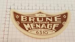 ETIQUETTE  BRASSERIE POTVIN - GRARD JEMAPPES BRUNE DE MENAGE - Bière