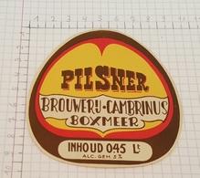 ETIQUETTE  BROUWERIJ CAMBRINUS BOXMEER PILSNER (HOLLAND) - Bière