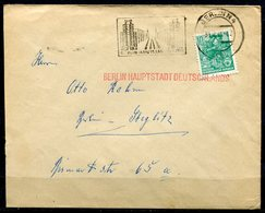 "DDR,GDR 1961 Bedarfsbrief/Cover Mit Mi.Nr.704 Roten Propaganda Aufdruck U.MWST ""Berlin N4 BERLIN Hauptstadt ...""1 Beleg - DDR"