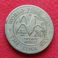 Zambia 20 Ngwee 1981 KM# 22 Fao F.a.o.  Zambie - Zambie