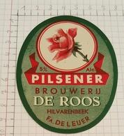 ETIQUETTE  BROUWERIJ DE ROOS HILVARENBEEK  PILSENER (HOLLAND) - Bière