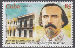 Cuba 2019  MNH Carlos Manuel Cespedes - Cuba