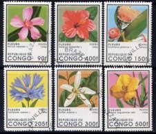 CONGO - 1026G/1026M° - FLEURS - Oblitérés