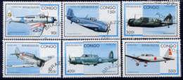 CONGO - 1026N/1026T° - AVIONS EN VOL - Oblitérés