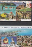 Cuba 2019  MNH Cienfuegos  Block Of 4 + Souvenir Sheet - Cuba