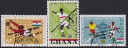"GHANA 1966 SG 412-14 Compl.set Used ""Black Stars"" Victory - Ghana (1957-...)"