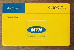 CAMEROUN MTN AIRTIME CAMEROON RECHARGE GSM 5.000 FCFA PRÉPAYÉE PREPAID CARTE TÉLÉPHONIQUE - Camerún