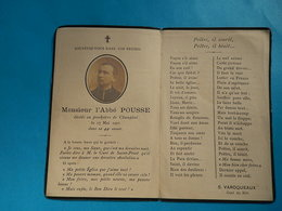 IMAGE GENEALOGIE FAIRE PART AVIS DECES WWI Religieux Sous Drapeaux POUSSE CHAMPHOL 1922 - Décès