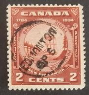 """CANADA YT 172 OBLITÉRÉ """"SCEAU DU NOUVEAU BRUNSWICK"""" ANNÉE 1934 - Gebruikt"""