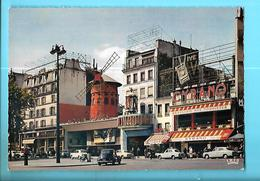 75-----PARIS---le Moulin Rouge--( Voitures Des Années 60---203 + 404 + 403 + Autres )--voir 2 Scans - Andere