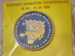 European Badminton Championships Sofia 1998 Bulgaria Pin Badge - Badminton