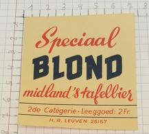 ETIQUETTE  BROUWERIJ MIDLAND O.L.V. TIELT SPECIAAL BLOND - Bière