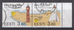 ESTLAND 2000 Mi.Nr.  365-366 Leuchttürme   Used-Gebruikt-Oblitere - Estonie