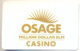 Osage Hotel & Casino, Tulsa, OK, U.S.A., Used Magnetic GIFT Card # Gcosage-1   NOT A KEY CARD - Chiavi Elettroniche Di Alberghi