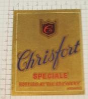 ETIQUETTE  BROUWERIJ CHRISTIAEN KOEKELARE CHRISFORT SPECIALE - Bière