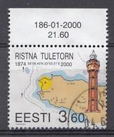 ESTLAND 2000 Mi.Nr.  365  Leuchttürme   Used-Gebruikt-Oblitere - Estonie