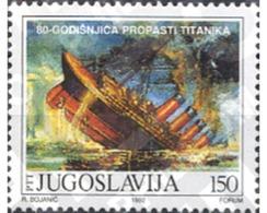 Ref. 287558 * MNH * - YUGOSLAVIA. 1992. 80TH ANNIVERSARY OF THE SINKING OF THE TITANIC VESSEL . 80 ANIVERSARIO DEL NAUF - Unused Stamps