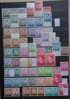 BELGIE   Ruime Samenstelling  Boudewijn Met Bril  / Verschill. Kleur En Fosfor - Zie Foto  Postfris *  CW + 400,00 Euro - 1970-1980 Elström