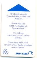 Silja Line, Used Magnetic Cruise Cabin Key Card, # Kc-1 - Chiavi Elettroniche Di Alberghi