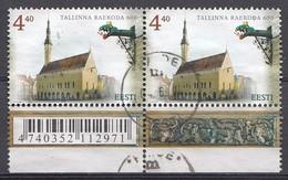 ESTLAND 2004  Mi.Nr.  489 Paare Rathaus Von Tallinn   Used-Gebruikt-Oblitere - Estonie