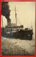1596 SHIP OCEAN LINER '' KRISJANIS VALDEMARS '' VINTAGE PHOTO POSTCARD - Bateaux