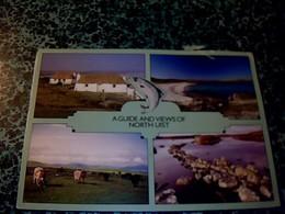 """Royaume-Uni  Ecosse Vieux Papier Dépliant Touristique """" A Guide Of View """" îles De North  Uist  Année ,? - Tourism Brochures"""