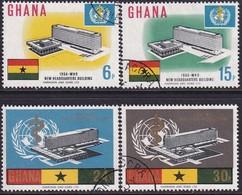 GHANA 1966 SG 415-19 Compl.set+m/s Used WHO Headquarters - Ghana (1957-...)