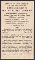 Willem Hubert Nolens, Priest Minster Van Staat, Venlo Den Haag, 1860-1931 - Religion & Esotericism